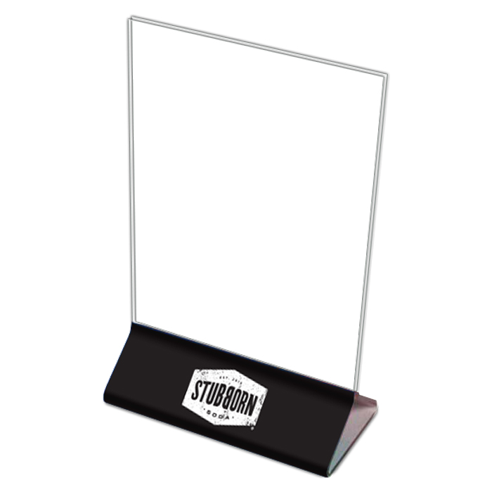 Acrylic Table Sign Stubborn Pack NSMShop - Acrylic table tents