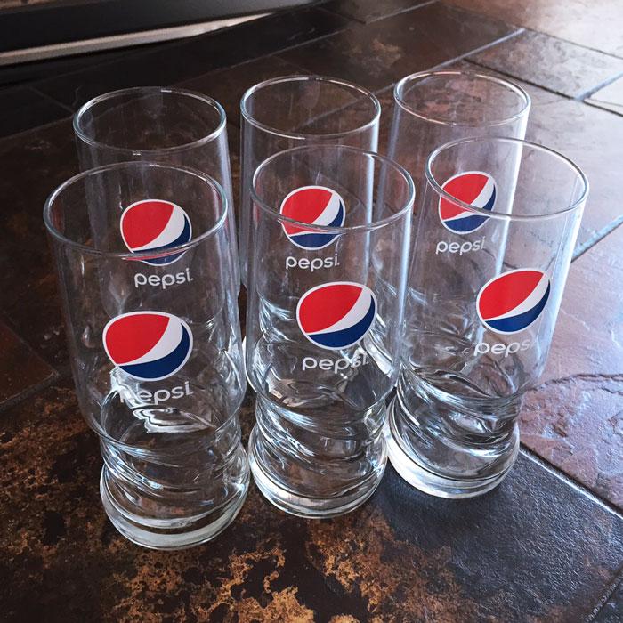 Pepsi 174 Axl Glass 6 Pack Nsmshop