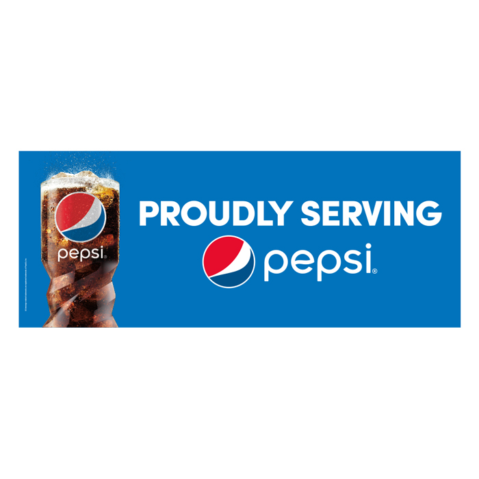 Vinyl Banner Proudly Serve Pepsi Nsmshop