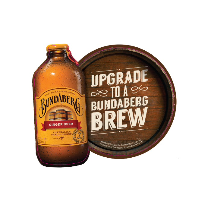 Bundaberg Fridge Sticker Ginger Beer 5 Pack Single